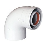 Коаксиальный DN 60/100 отвод 90° без муфты