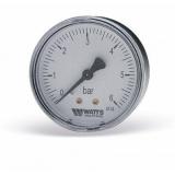 Манометр Watts 10 Bar (63 mm) заднее подключение пластик 1/4