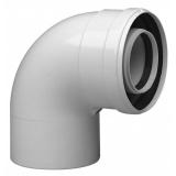 Коаксиальный отвод 80x90°