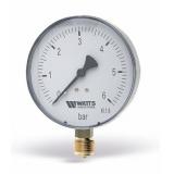 Манометр Watts 16 Bar (100 mm) нижнее подключение пластик 1/2